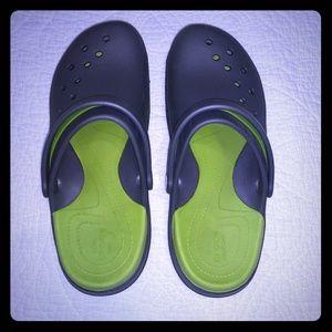 Crocs Modi Sport Clog, Lime and Grey, Men's 9